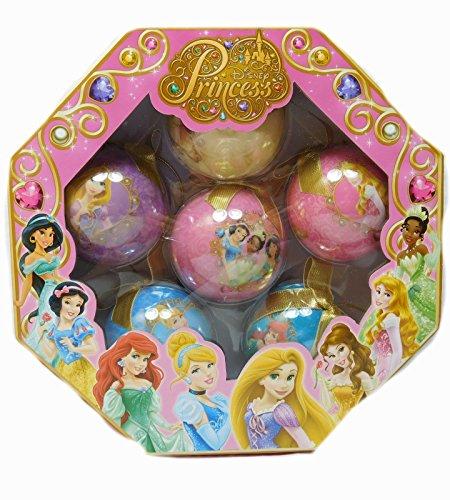Disney Ornament Weihnachtsbaumschmuck Christmas Princess 6 Stück Prinzessinen (Prinzessin Disneyland Belle)