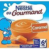 Nestlé Bébé P'tit Gourmand Caramel - Laitage dès 6 mois - 4 x 100g