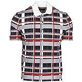 Moncler Herren T-Shirt Polo Kurzarm Kurzarmshirt Polokragen Grau EU S (UK S) D139183193008496Q 759