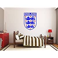 Three Lions England soccer designs Wall Decal style Stickers. Perfect for Kids Rooms or for Adults. Art Mural Men