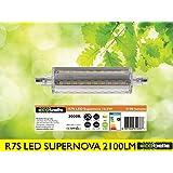 ECOBELLE® 1 x Bombilla LED R7S *SUPERNOVA* 16.5W 2100 Lúmenes, Color Blanco Cálido 3000K, 118 mm, 360 grados
