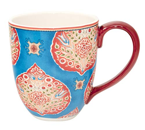 Jumbotasse Becher XXL folkloristische Deko 810 ml aus Keramik Trinkbecher Smoothie Becher Geschenk Büro Tasse für Kaffee Teetasse Cappuccino Kaffeebecher Jumbo-Tasse Riesentasse XXXL von DUO (Orient)