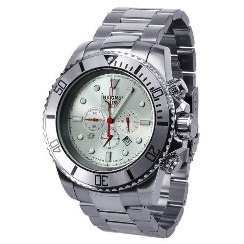 Insignum Herren-Armbanduhr XL Tornado stahl Chronograph Quarz Edelstahl IP212373