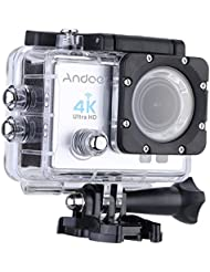 "Andoer® 2 "" LCD Ultra-HD Acción Cámara Deportes 4K 25FPS 1080P 60 FPS Wifi Cam Salida de Video FPV 16MP Lente de 170 ° Gran Angular con Funda Impermeable Buceo de 30 Metros"