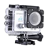 Andoer? 4K Action Camera 1080P Wifi Cam 16MP Ultra-HD 2in LCD Video Output 170Wide-Angle Lens with Diving 30-meter Waterproof Case