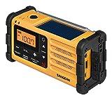 Sangean MMR-88 tragbares Kurbelradio (UKW/MW-Tuner, Taschenlampe, Notfall-Signalton, integrierter Li-Ion-Akku, Kopfhöreranschluss) gelb/schwarz - 5