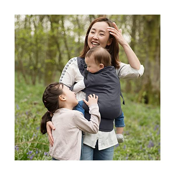 Izmi Toddler Carrier, Three Carry Positions, for Children Weighing 8kg-27kg, Midnight Blue Izmi Ideal for carrying your baby from 9months onwards (8kg-27kg/17.6lbs-60lbs) Adjustable seat width provides the best support from 9months onwards, whilst holding your little one in a hip healthy position 3 carrying positions: front carry, back carry and hip carry 3