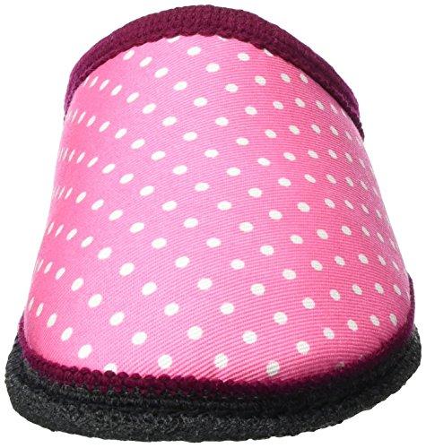 Kitz-Pichler Unisex-Erwachsene Biosoft Pantoffeln Pink (pink Punkte)