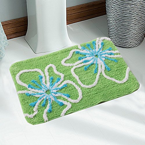 Saral Home Soft Cotton Bathmat set with Contour (Pack of 2, 40x60 Cm)