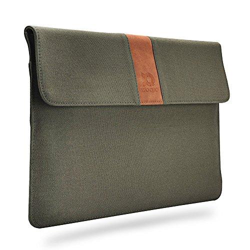 Laptop-Hülle XIAO QIAO für 13 Zoll 2016/2017 Neue MacBook Pro A1706 / A1708 oder 12,9 Zoll iPad Pro Schutzmaßnahmen Ultra Slim Canvas Tablet-Hülle, Khaki (Armee grün)
