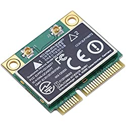 Mini Carte Réseau WiFi PCI-E avec Double Bande 2.4G / 5Ghz + Bluetooth 4.2 Carte Réseau 433Mbps WiFi Mini Carte PCI-E sans Fil pour Windows 7/10.