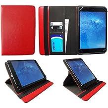 Miia Tab MT-100 10.1 Pollici Tablet Rosso Universale 360 Gradi di Rotazione PU Pelle Custodia Case Cover di Sweet Tech