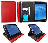 Sweet Tech Odys Pyro 7+ 3G 7 Zoll Tablet Rot Universal 360 Grad Drehung PU Leder Tasche Schutzhülle Case (7-8 Zoll