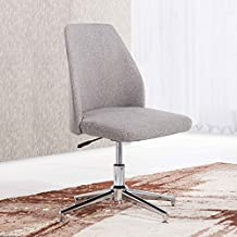 Butaca - Silla de escritorio para despacho modelo QUICK base fija Elegance color gris ceniza - Sedutahome