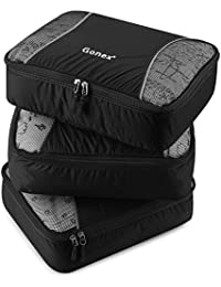 Gonex Kit de sede maleta bolsas de almacenamiento bolsas con equipaje bolsa de equipaje bolsa cubo de embalaje ropa embalaje Nylon ligero Durable, negro