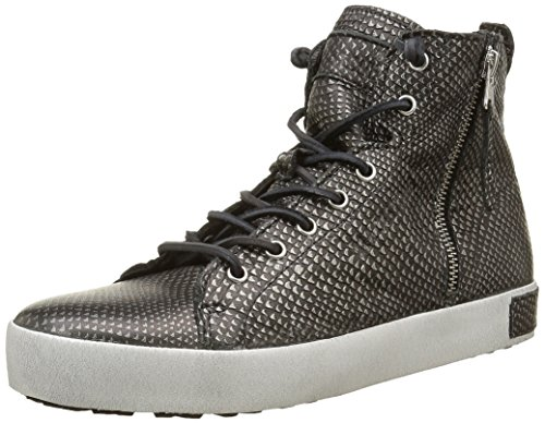 Blackstone KL62, Baskets Hautes Femmes, Noir (Black Metallic), 40 EU