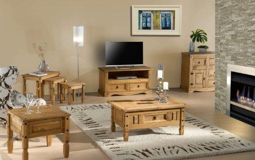 Birlea Corona 2-Drawer Flat Screen TV Unit - Waxed Pine