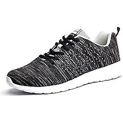AFFINEST Donna Uomo Scarpe da Ginnastica Sneakers Respirabile Mesh Scarpe da corsa all'aperto Sneakers?nero-A,43