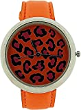 ZAZA London LLB851 orange - Reloj para mujeres, correa de cuero color naranja