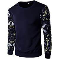 El otoño y el invierno sueter con capucha tamaño pro de manga larga para hombre sweater Mens size Large,Tibet Navy,3XL,