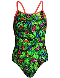Shop For Cheap Funkita Fine Lines Toddler Girls Printed One Piece Swimwear Toddler Girls One Piece Swi