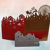 BINGHONG3 Carbon Steel Tree House Pattern Cutting Die Mold For DIY Christmas Card Art Handcraft Decor