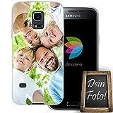 dessana Eigenes Foto transparente Schutzhülle Handy Tasche Case für Samsung Galaxy S5 Mini