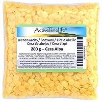 100% reine Bienenwachs Pastillen Bio, gelb, 200 g, für Kosmetik Kerzen Cremes Salben Seifen