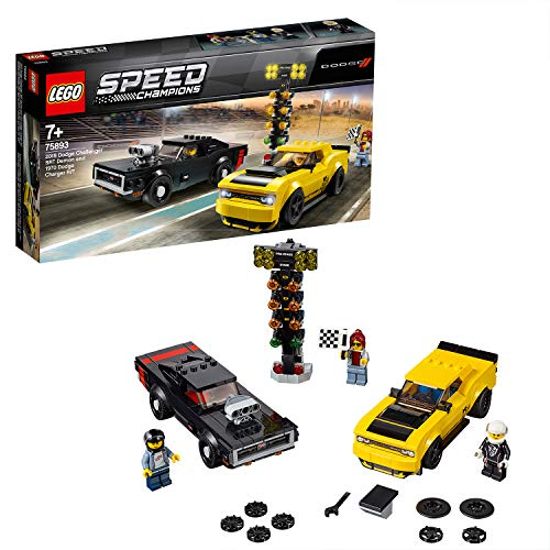 LEGO 75893 Speed Champions 2018 Challenger SRT Demon and 1970 Dodge Charger R/T Building Kit, Colourful Best Price and Cheapest
