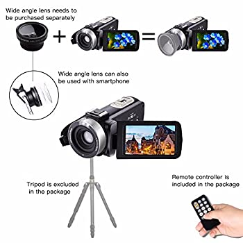 Camera Camcorders,camking Hdv-301m 1080p 16x Digital Zoom 3 Inch Touch Screen Lcd Video Camcorder With External Microphone 3