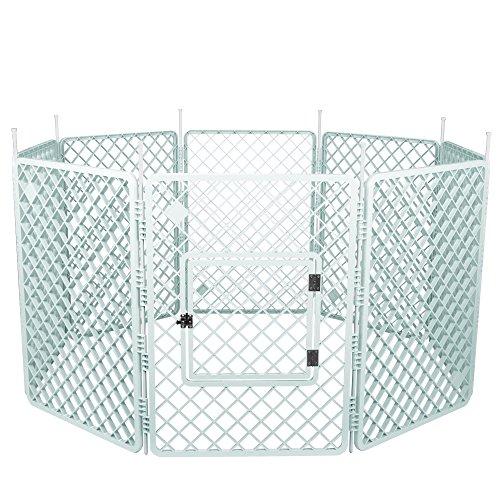 IRIS, Welpenauslauf / Freigehege / Laufstall / Welpengitter H-908, Kunststoff, weiß, 60,2 x 86 cm (1 Panel) -