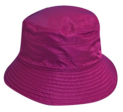 7ce180e7 Scala Classico Women's Waterproof 3 Inch Brim Lined Rain Hat, Wine, One Size