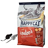 Happy Cat 10 kg Adult Indoor Voralpen Rind Katzenfutter Trocken Light + 2 Mäuse