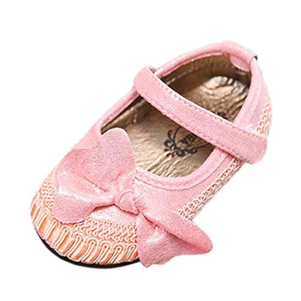 cinnamou Prinzessin Ballett Schuhe Baby Beil/äufige Schuhe Einzelne Weiche Sohle Schuhe Krippe 6 ~ 12 Monate, Rose Anti-Rutsch-Wanderer Prewalker 0-6 Monat 6-12 Monat 12-18 Monat