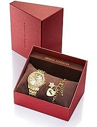 Mark Maddox Reloj analógico para mujer Quartz metal oro MM6004–99