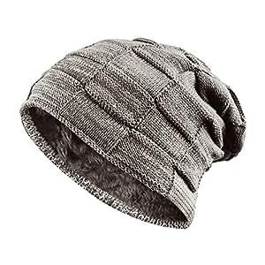 ONSON Bonnet Hiver, Chapeau tricoté Beanie Hats pour Homme Femmes ... e8cc106a8db