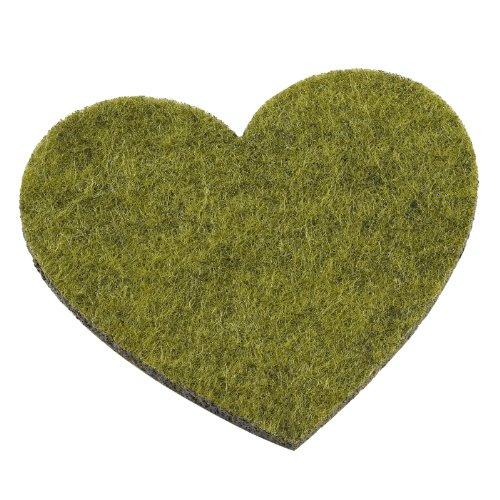 TRENDYFilz ca. 200 x 300 mm, 1 mm, grün meliert
