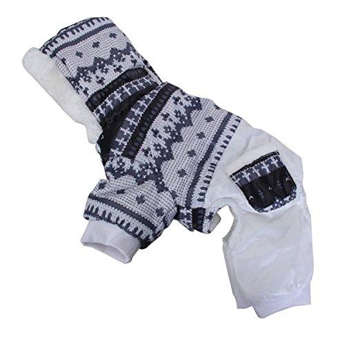Generic Pet Dog Hoodie Winter Jumpsuit Coat Jacket - M