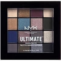 NYX PROFESSIONAL MAKEUP - Palettes de Fards à Paupières - Ultimate Shadow Palette - Ombres à Paupières Ultra Pigmentées - 16 Couleurs - Fini Irisé - Métallique - Mat - Teinte: Ash