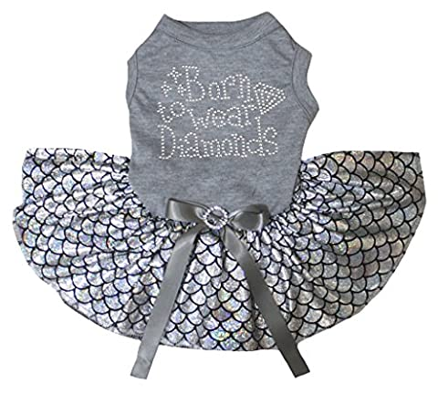 petitebelle Born tragen Diamond grau Shirt Silber Fisch Waage Mermaid