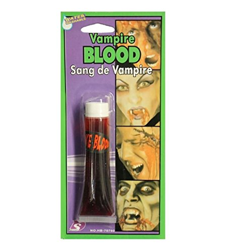 Islander fashions adult tube of vampires falsi sangue unisex fancy halloween horror party accessory dimensione dell'occhio