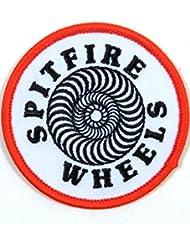Spitfire Swirl White/Red/Black parche