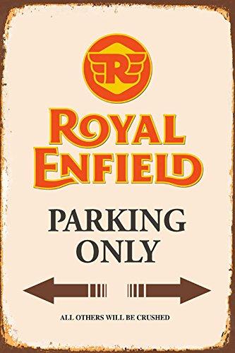 Royal Enfield Parking only blechschild