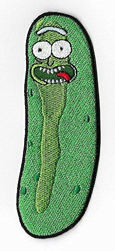 (12cm) Pickle Rick bestickt Eisen/Nähen auf Badge Aufnäher Souvenir DIY Kostüm (Birdman Kostüm)