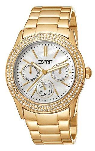 Esprit Damen-Armbanduhr Peony Analog Quarz ES103822016 Silber/Rosegold
