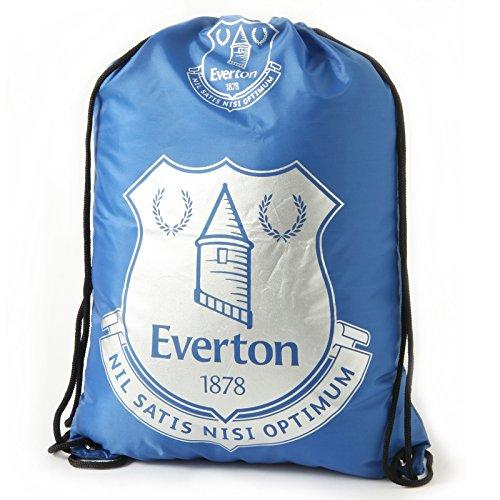 Logo Drawstring Taschen (Everton F.C. Turnbeutel FPdrawstring Tasche, Ösen, Metall, Höhe: ca. 44 cm x 33 cm, flach, mit header card, Offizielles FußBall-Merchandising-Produkt)