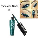Anglewolf 10 Colore Occhiali Lucidi Metallici Di Trucco Eyeliner Liquido Impermeabile Scintillio (H) immagine