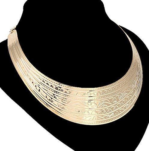 Dairyshop Il modello decorativo di modo ha placcato gli argenti d'argento dell'annata delle collane del Choker (dorato) dorato