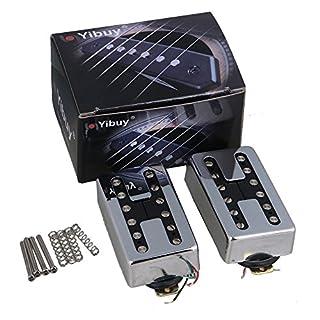 yibuy One Paar chrom Gitarre Tonabnehmer für E-Gitarre mit verstellbarem Schraube Pin