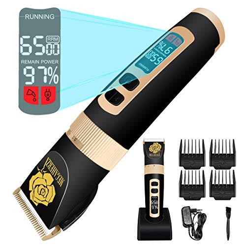 Profi-Haarschneidemaschine, Elektrische Haarschneider Maschine Herren Haarschneidegerät Haarschneideset Haar und Bartschneider mit LED-Anzeige Haarschneider Set